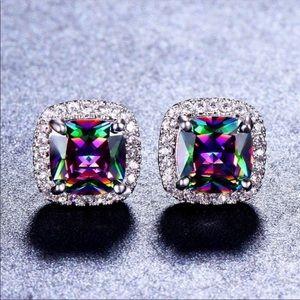 🎉FLASH SALE🎉 Mystic rainbow topaz earrings